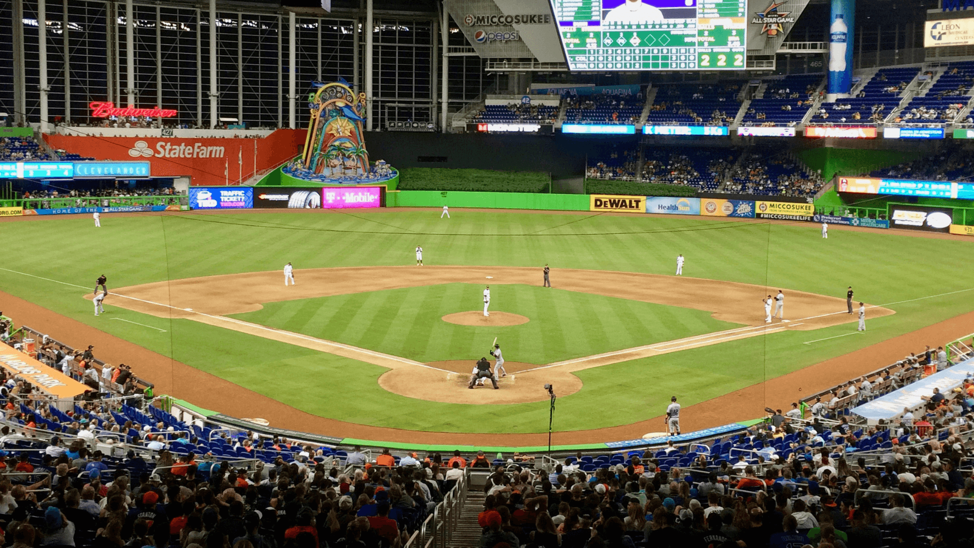 Match de Baseball au Marlins Park
